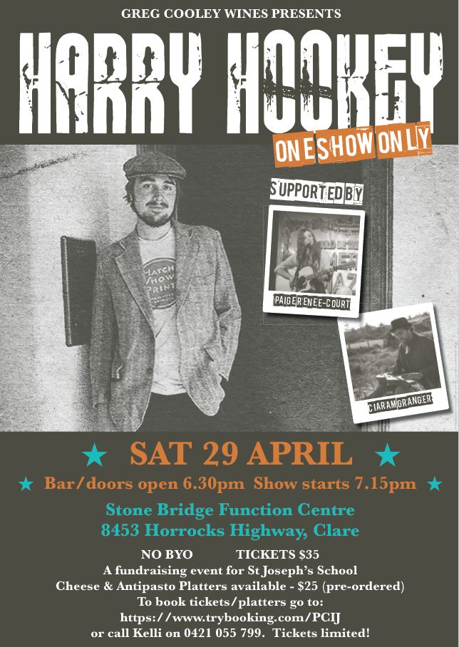 Greg Cooley Wines presents Harry Hookey April 2017