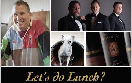 Greg Cooley Wines Lunch at Headricks Lane 3rd June