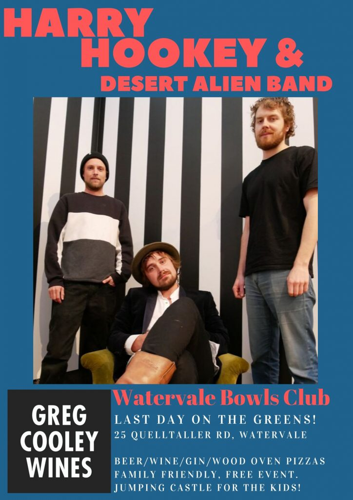 Greg Cooley presents Harry Hookey and Desert Alien Watervale