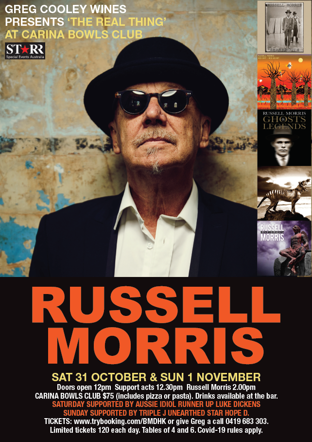 Russell Morris presented by Greg Cooley Wines